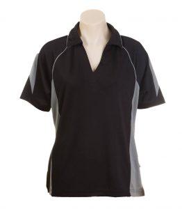 Olympikool Ladies Polo-Black-Ashe