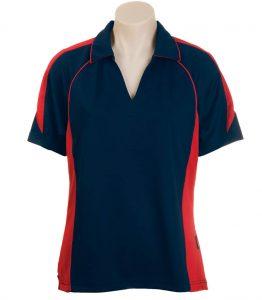 Olympikool Ladies Polo-Navy-Red