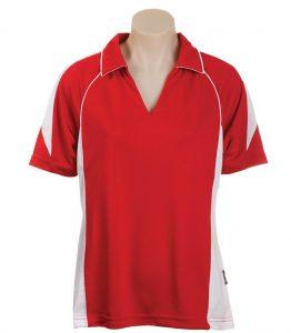Olympikool Ladies Polo-Red-White