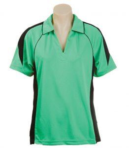 Olympikool Ladies Polo-Emerald-Black