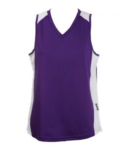 Ladies Singlets-Purple-White