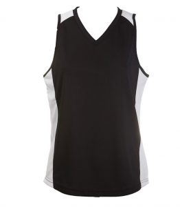 Ladies Singlets Black-White