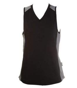 Ladies Singlets Black-Ashe