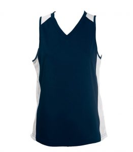 Ladies Singlets Navy-White