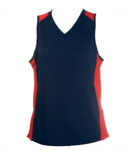 Ladies Singlets Navy-Red