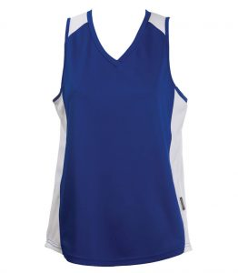 Ladies Singlets Royal-White