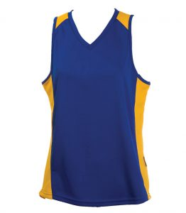 Ladies Singlets Royal-Yellow