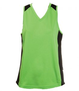 Ladies Singlets Apple-Black
