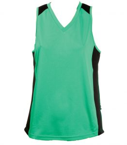 Ladies Singlets Black-teal