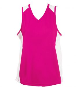 Ladies Singlets hotpink -White
