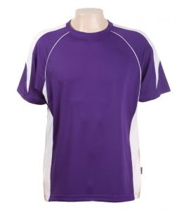 Junior Tees-Purple-White