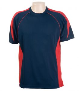 Olympikool Tees-Red-Navy